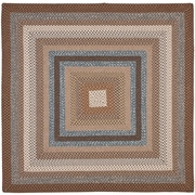 August Grove Georgina Hand-Woven Brown Area Rug; Square 8'
