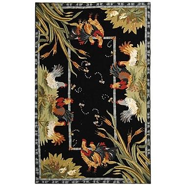 August Grove Kinchen Black Rug; Rectangle 5'3'' x 8'3''