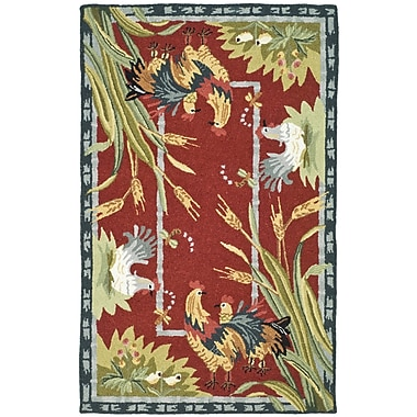 August Grove Isabella Country Novelty Rug; Rectangle 3'9'' x 5'9''