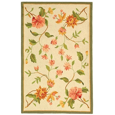 August Grove Isabella All Over Beige Floral Rug; Rectangle 3'9'' x 5'9''