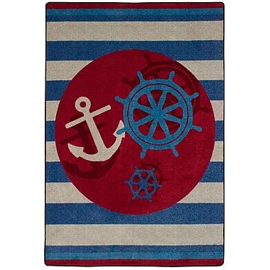American Dakota Coastal Ahoy There Nautical Area Rug; Rectangle 3' x 4'