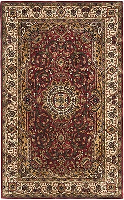 Astoria Grand Empress Ivory/Red Area Rug; Rectangle 3' x 5'