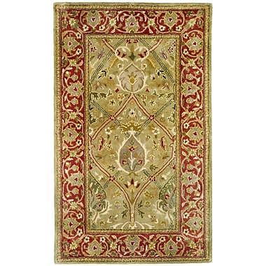 Astoria Grand Empress Light Green/Rust Area Rug; Rectangle 3' x 5'