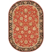 Astoria Grand Weaver Red Rug; Oval 7'6'' x 9'6''