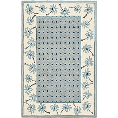 Bay Isle Home Everglades Blue/Ivory Rug; Rectangle 7'9'' x 9'9''