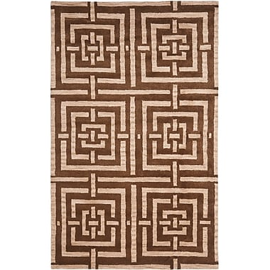 Bay Isle Home Goulding Brown Rug; Rectangle 4' x 6'
