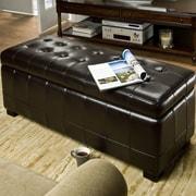 Brayden Studio Sinope Leather Storage Bench; Black