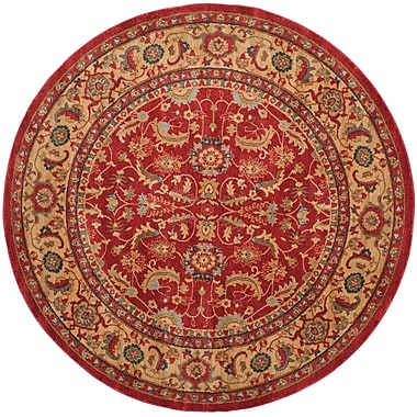 Charlton Home Coleraine Red Area Rug; Rectangle 4' x 5'7''