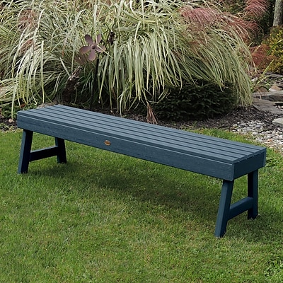 Darby Home Co Berry Picnic Bench; Nantucket Blue