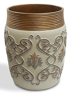 Sweet Home Collection Savoy Waste Basket