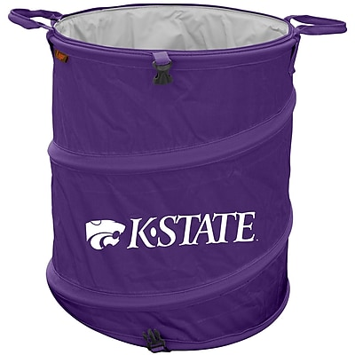 Logo Brands Collapsible 3-in-1 13 Gallon Trash Can; Kansas State Wildcats