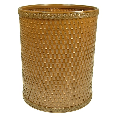 Rebrilliant 2.6 Gallon Waste Basket; Nutmeg