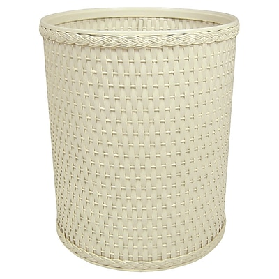 Rebrilliant 2.6 Gallon Waste Basket; Cream