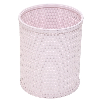 Rebrilliant 2.6 Gallon Waste Basket; Crystal Pink