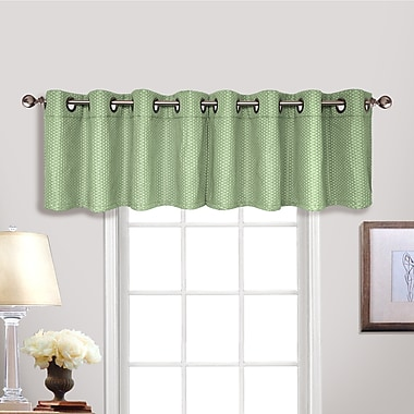Alcott Hill Powhatan Grommet Tailored 54'' Curtain Valance; Sage