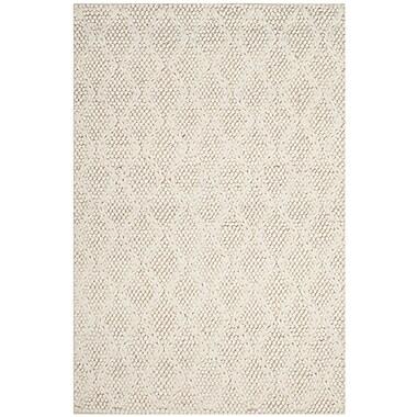 Brayden Studio Sinope Hand-Tufted Ivory Area Rug; 4' x 6'