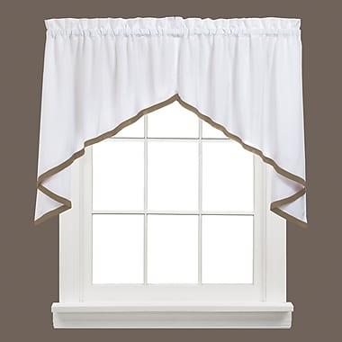 Charlton Home Navarre Swag Curtain Valance; Taupe