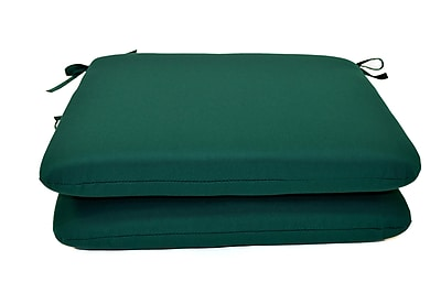 Wildon Home Outdoor Sunbrella Dining Chair Cushion (Set of 2); Canvas Forest Green WYF078280542188