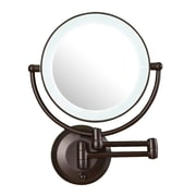 Darby Home Co Aldona LED Lighted 1X/10X Magnification Mount Wall Mirror
