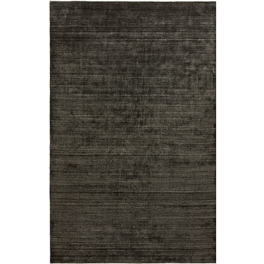 Ebern Designs Dona Charcoal Hand-Woven Gray Area Rug; 9'6'' x 13'