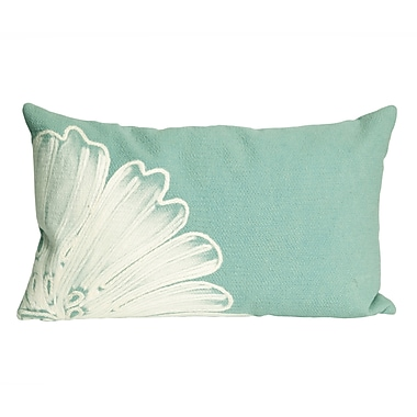 August Grove Kaitlyn Antique Medallion Outdoor Lumbar Pillow; Aqua