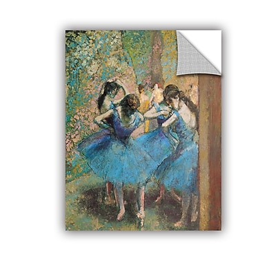 ArtWall ArtApeelz 'Dancers in Blue' by Edgar Degas Painting Print Removable Wall Decal