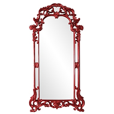 Astoria Grand Arch/Crowned top Bronze w/ Antique Silver Mirror; Red