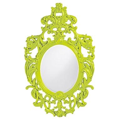 Astoria Grand Oval Resin Vertical Mirror; Green