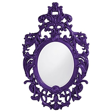 Astoria Grand Oval Resin Vertical Mirror; Royal Purple