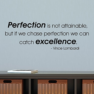 Belvedere Designs LLC Chase Perfection Catch Excellence Wall Quotes Decal