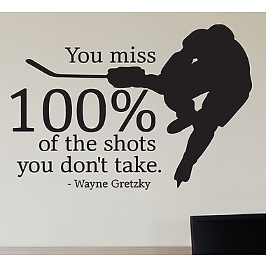 Belvedere Designs LLC Classic Shots You Don't Take Wall Quotes Decal