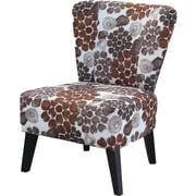 Charlton Home Briscoe Floral Slipper Chair; Brown Flower