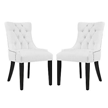 Rosdorf Park Burnett Vinyl Dining Side Chair (Set of 2)