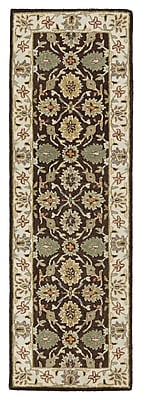 Fleur De Lis Living Chisolm Brown/Tan Area Rug; Runner 2'6'' x 8'