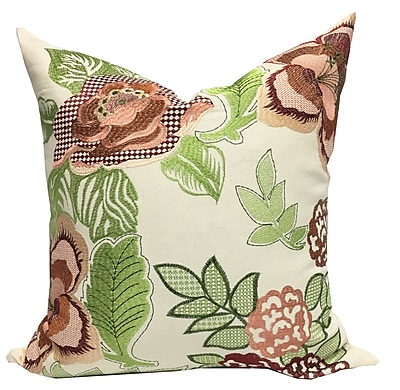 August Grove Aletha Embroidered Throw Pillow