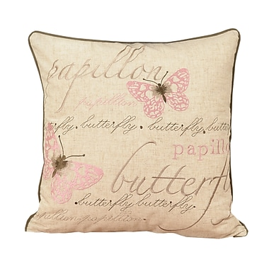 August Grove Irenee Embroidered Shabby Elegance Throw Pillow
