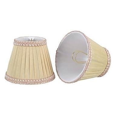 Aspen Creative Corporation 5'' Fabric Empire Candelabra Shade (Set of 2); Ivory