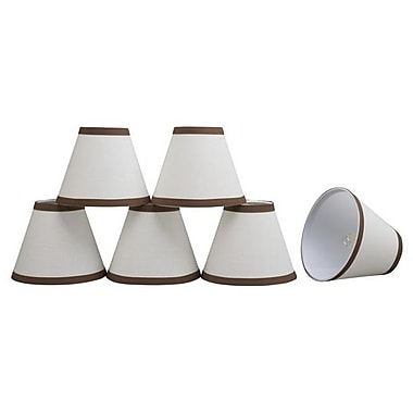 Aspen Creative Corporation 6'' Linen Empire Candelabra Shade (Set of 6); Brown