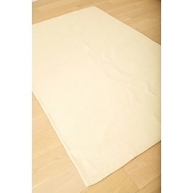 Red Barrel Studio Loring Hand-Tufted Ivory Area Rug; 5' x 8'