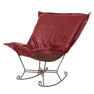 Red Barrel Studio Azaria Scroll Avanti Rocking Chair; Apple - Red
