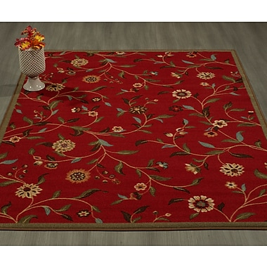 Charlton Home Bunyard Red Indoor/Outdoor Area Rug; 3'3'' x 5'