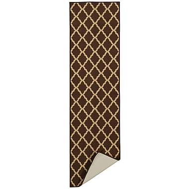 Charlton Home Bunyard Moroccan Trellis Design Chocolate Area Rug; 5' x 7'