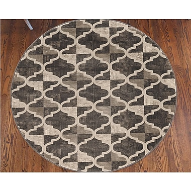 Charlton Home Norwich Brown Area Rug; Round 7'10''