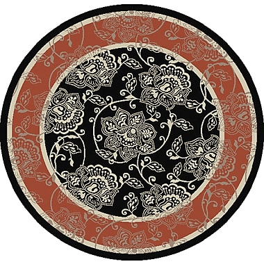 Charlton Home Pearce Taupe Indoor/Outdoor Area Rug; Round 5'3''
