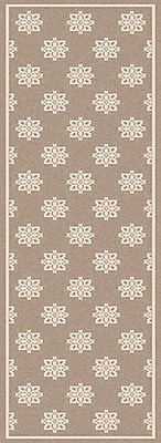 Charlton Home Pearce Beige/Taupe Damask Area Rug; Runner 2'3'' x 7'9''