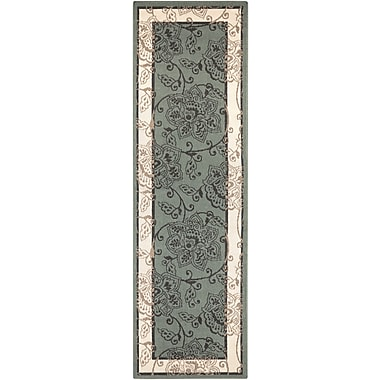 Charlton Home Pearce Moss/Ivory Indoor/Outdoor Area Rug; Runner 2'3'' x 11'9''