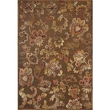 Darby Home Co Louisa Brown/Tan/Ivory/Burgundy Area Rug; 5'3'' x 7'6''