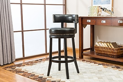 Darby Home Co Backer 29'' Bar Stool (Set of 2); Black
