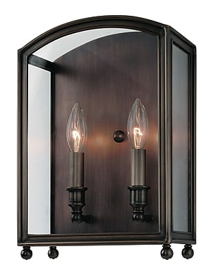Darby Home Co Natalia 2-Light Wall Sconce; Distressed Bronze