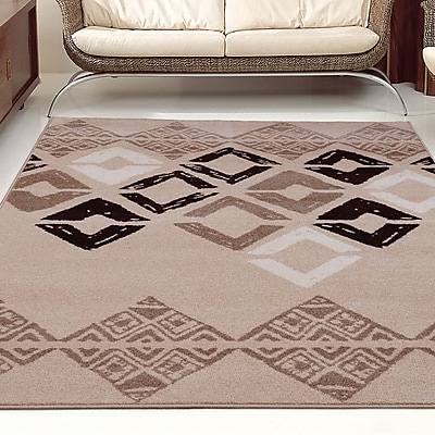 La Dole Rugs Flash Caramel Geometric Area Rug; Runner 2'7'' x 9 10''
